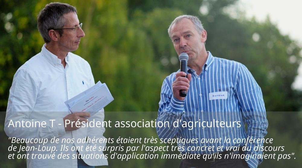 antoine président association agriculteurs